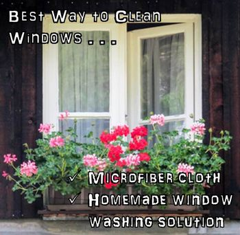best way to clean windows