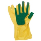 scouring house cleaning gloves