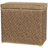 wicker laundry  hamper rectangular 5
